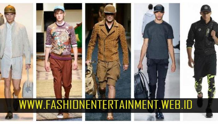 fashion kasual cowok dengan layer
