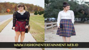 model rok plain skirt