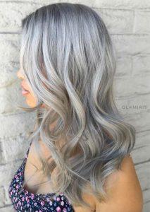 ash grey hair